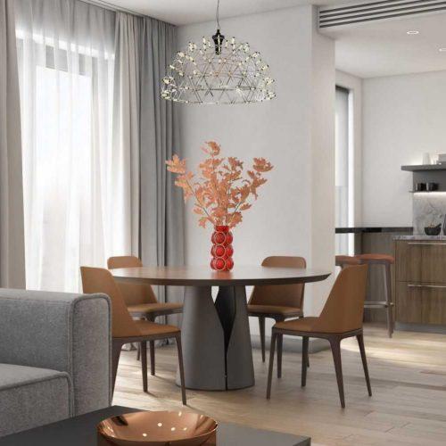 3 Room St. Petersburg Apartment Interior Design