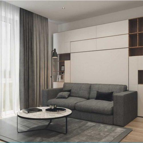 1 Room St. Petersburg Apartment Interior Design